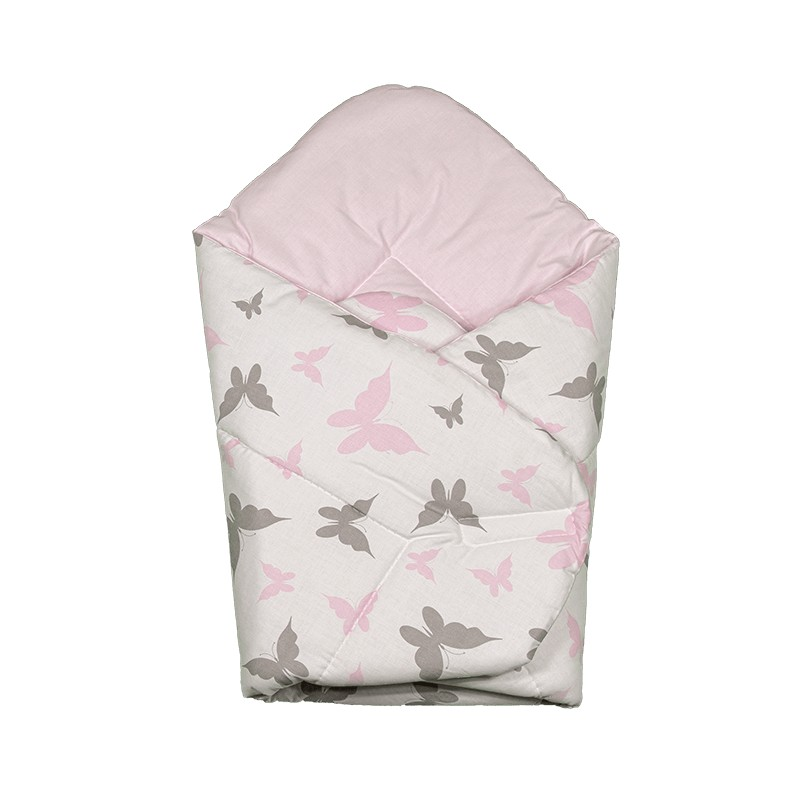 """Gigoteuse d'emmaillotage - nid d'ange naissance - coton - collection - """"Papillons"""""""