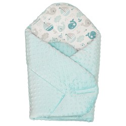 Gigoteuse d'emmaillotage - nid d'ange de naissance- Minky collection - Marin