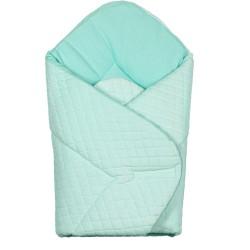 Gigoteuse d'emmaillotage - nid d'ange de naissance- Velvet collection - Turquoise