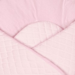 Gigoteuse d'emmaillotage - nid d'ange de naissance- Velvet collection - Rose