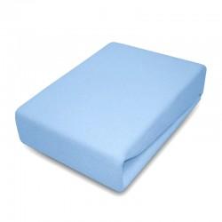 Drap de lit - coton - bleu