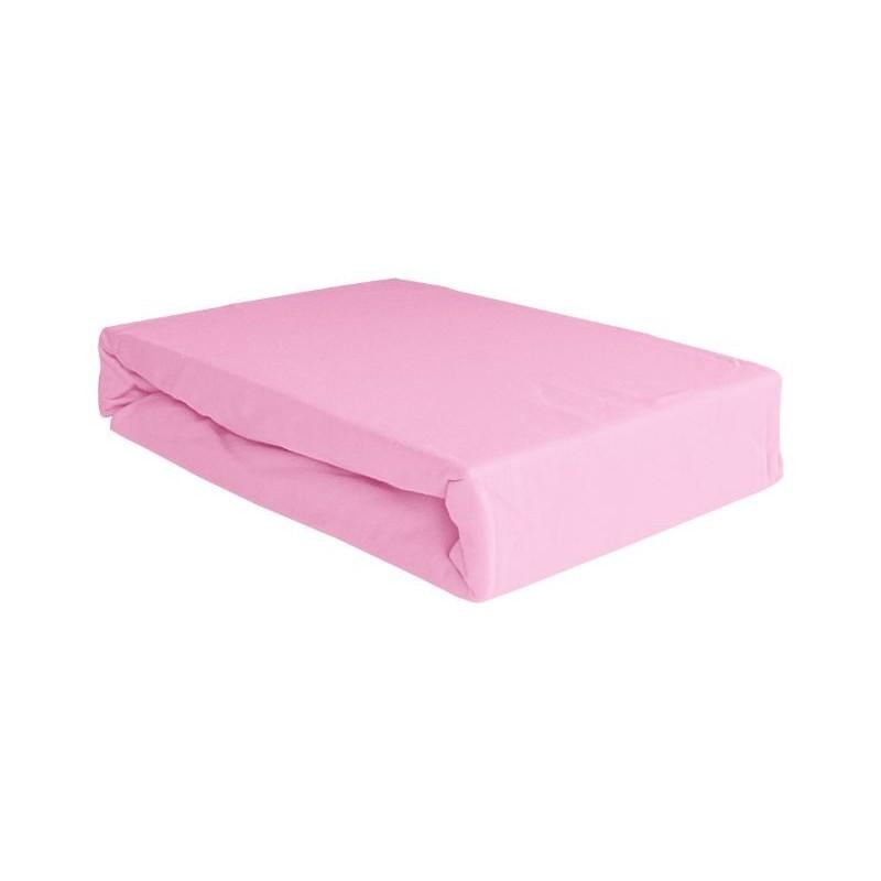 Drap de lit 60x120 - coton jersey - rose