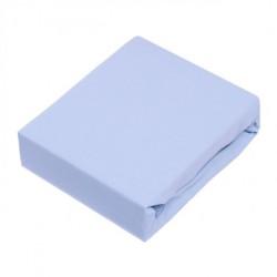 Drap de lit 60x120 - coton jersey - bleu azurin