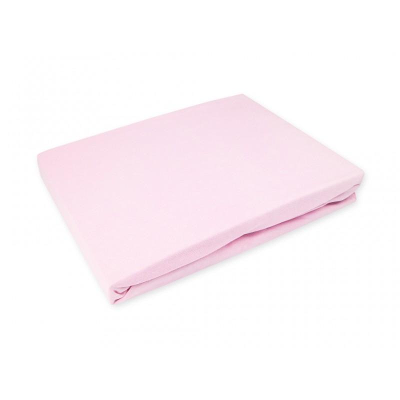 Drap de lit 60x120 - coton jersey - rose flamingo