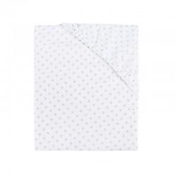 Drap de lit 60x120 - coton - blanc à pois